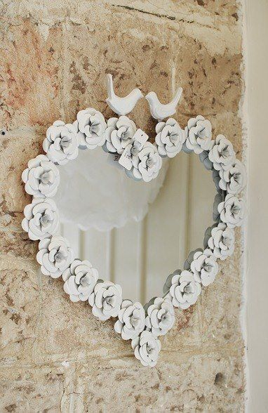 Heart Mirror On Pinterest Mirror Shabby Chic Mirror And