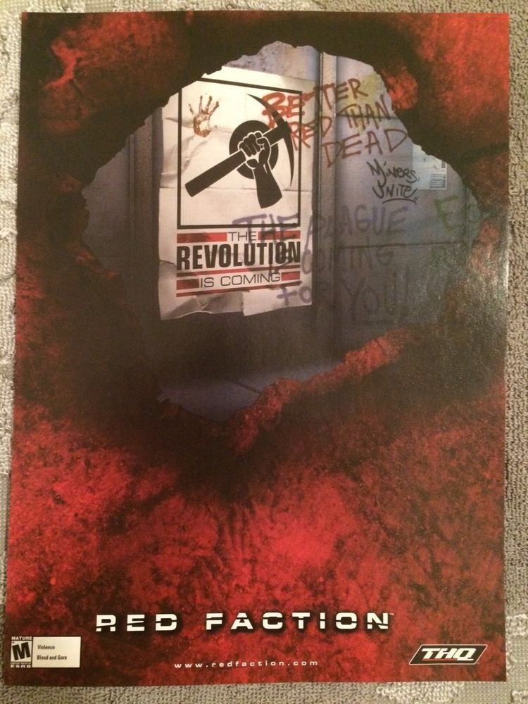 Red Faction Poster Ad Print PS2 Playstation 2 | Best video