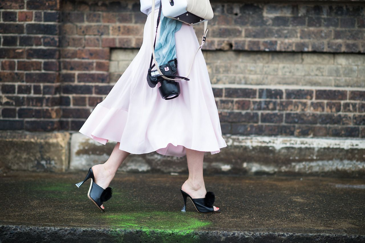 Pretty in pink. See more Australian street style here.  Photograph by Adam Katz Sinding.