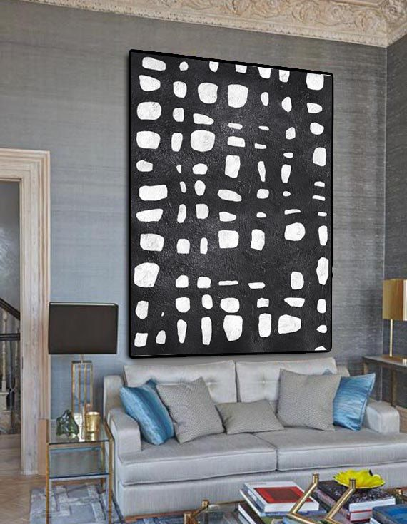 Extra Large Abstract Painting On Canvas Textured by CelineZiangArt