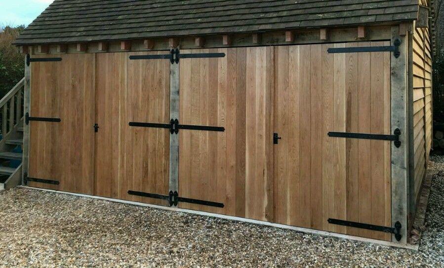 Side Hung Oak Garage Doors 7ft High X 7 Ft Wide Garage Doors