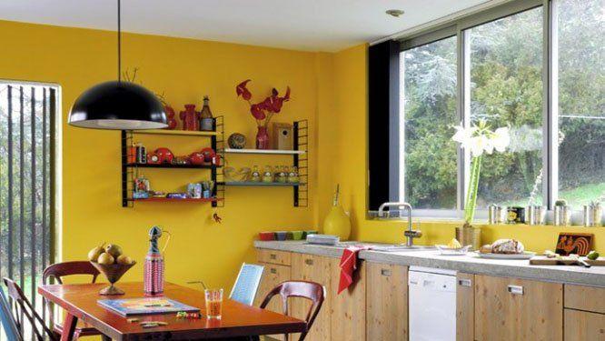 Le jaune su0027invite dans la cuisine