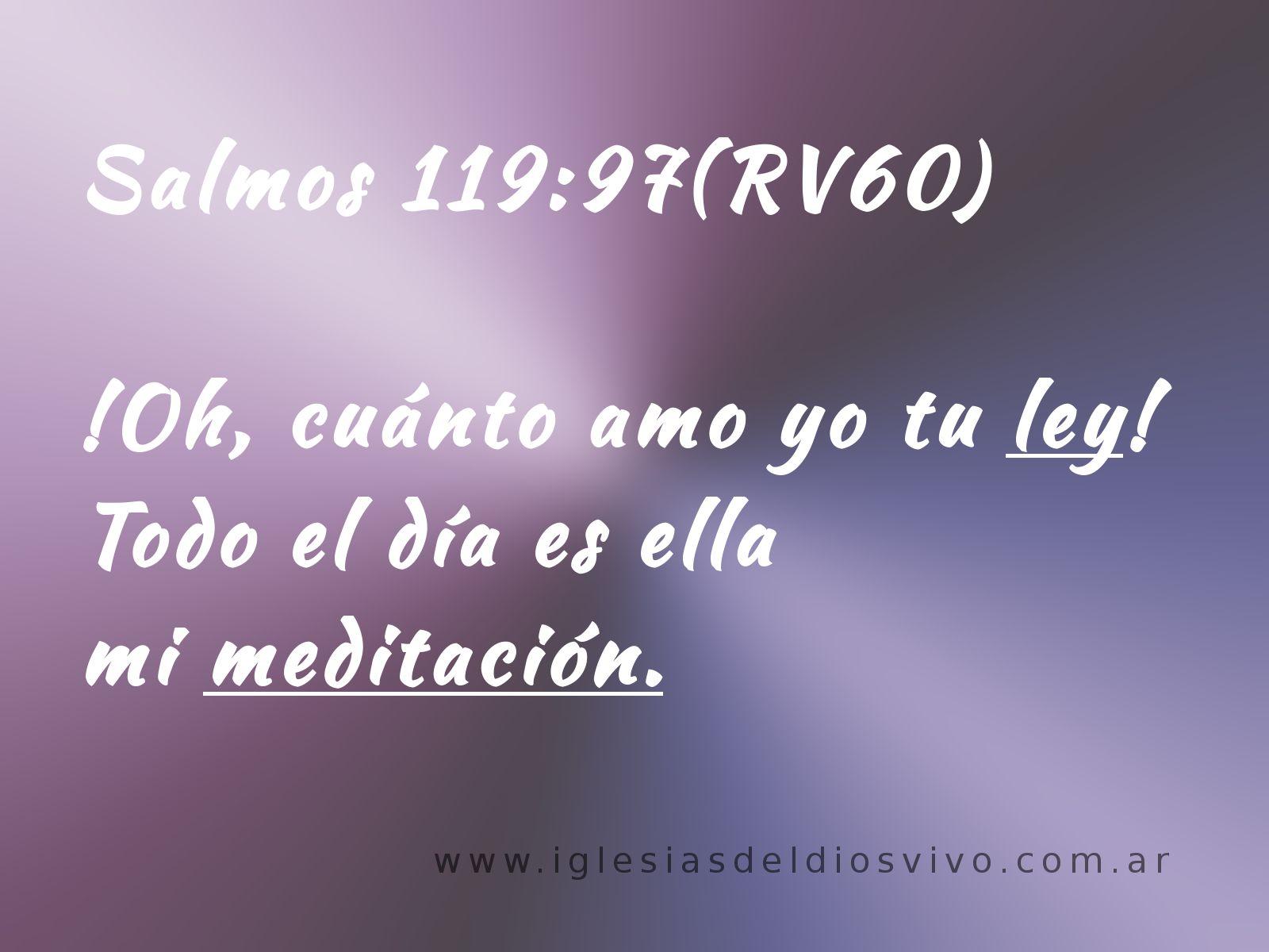 """Salmos 119 97 """"Oh cuanto amo yo tu ley Todo el dia · Citas BblicasFrases"""