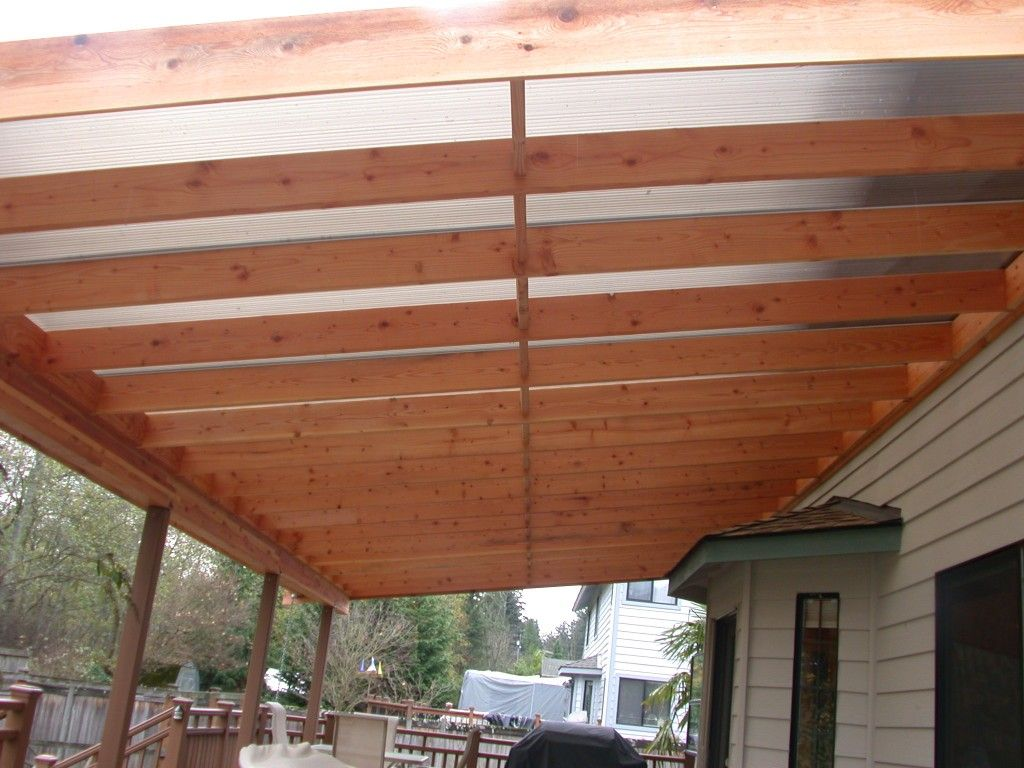 Cover idea patio roof designs home improvement for Patio construction ideas