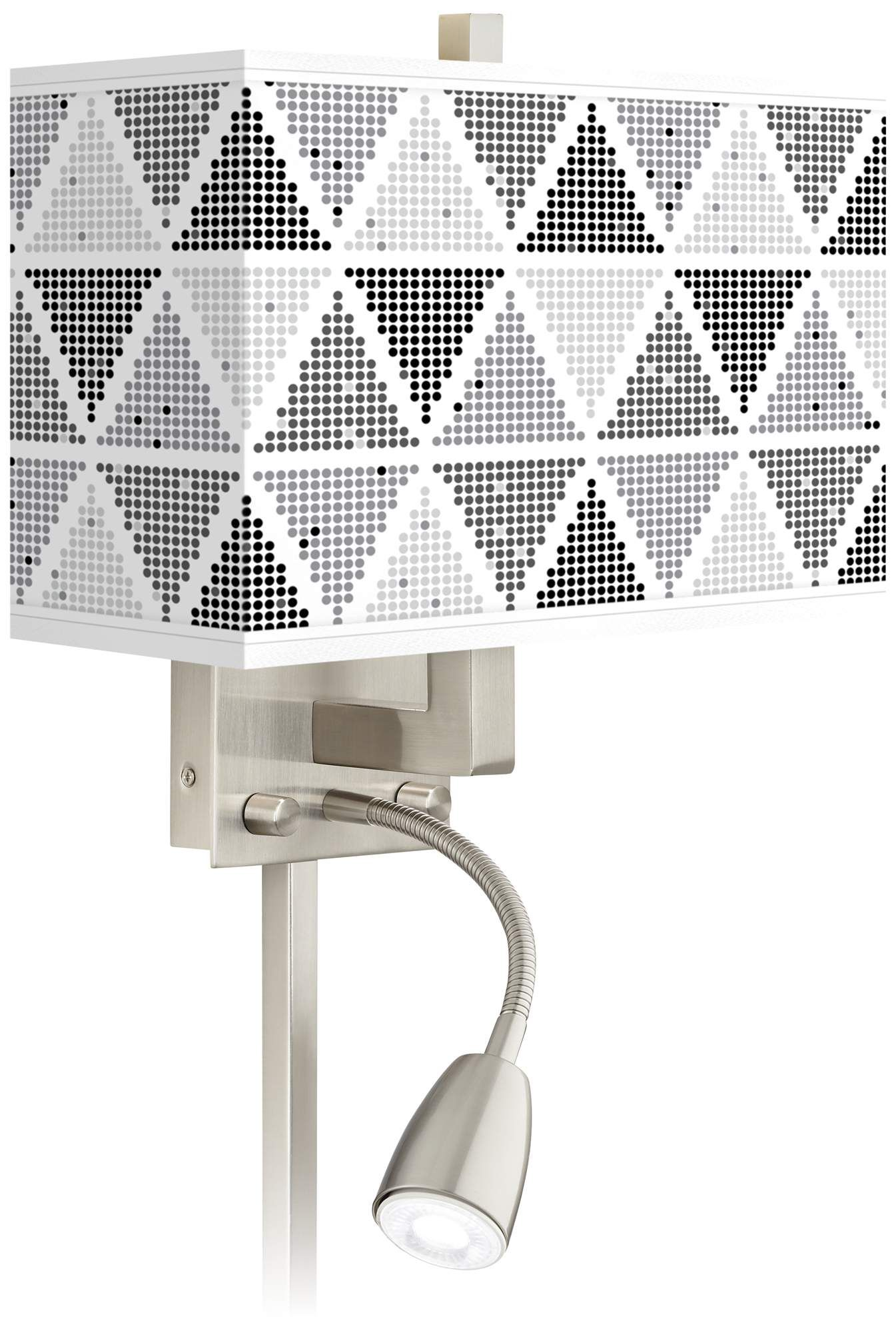 Wall Lamps Pointillism Giclee Glow Led Reading Light Plug In Sconce Led Reading Light Wall Lamp Reading Light