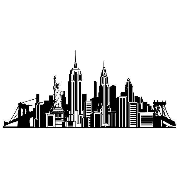 Vinilos Decorativos: Skyline Nueva York   Skyline   Pinterest ...
