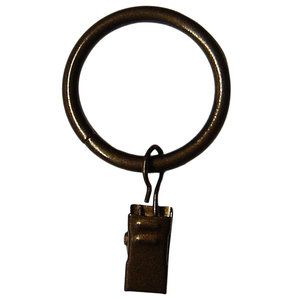 Home Curtain Rings With Clips Oil Rubbed Bronze Curtain Clips