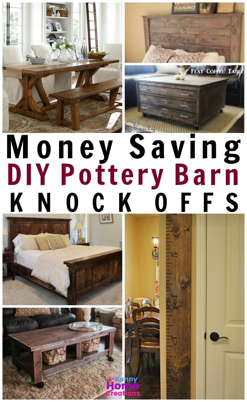 Money Saving Diy Pottery Barn Knock Offs I Love All These Will Have To Get Busy Creating Some Of Them For My House