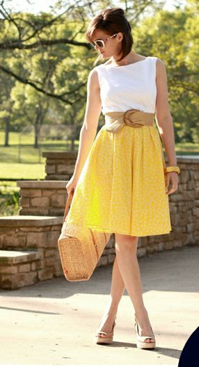 Canary yellow dresses for the spring