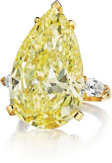 A Superb Fancy Intense Yellow Diamond Ring 1 1 Million Dollars Fancy Yellow Diamond Yellow Diamond Rings Jewels
