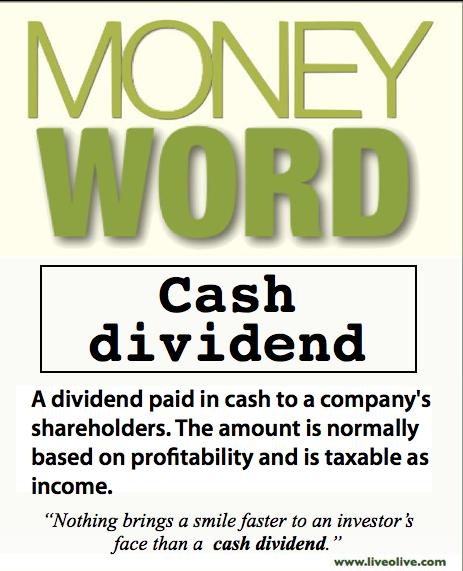 Cash Dividend?