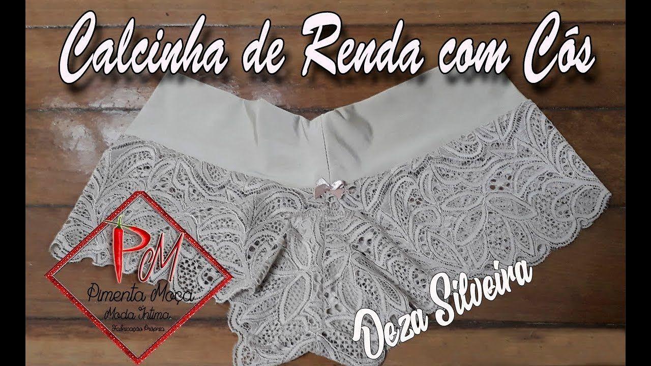 ebd11705b Calcinha de Renda com c贸s
