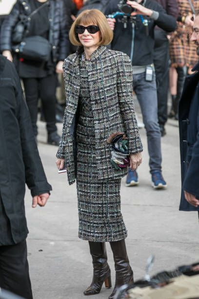 121e8a39aa06 Anna Wintour attends the Chanel show as part of the Paris Fashion Week  Womenswear Fall/Winter 2018/2019 on March 6 2018 in Paris France