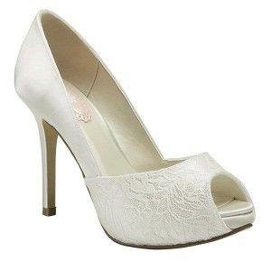 Zapatos de Novia Fancy de satén y encaje