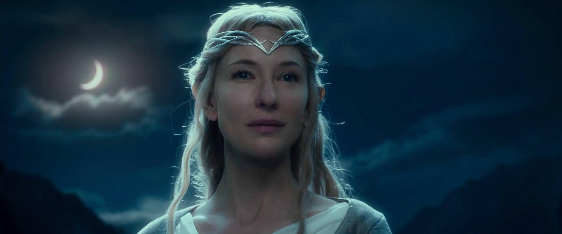 Galadriel ( Cate Blanchett), El hobbit: un viaje inesperado, 2012. Peter Jackson.