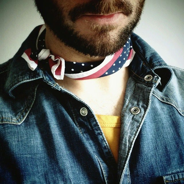 Trying out a neckerchiefed look this week