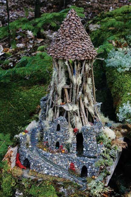 fairy garden castle. Fairy Castle. Houses. #fairy-house #fairy-tree-house Garden Castle