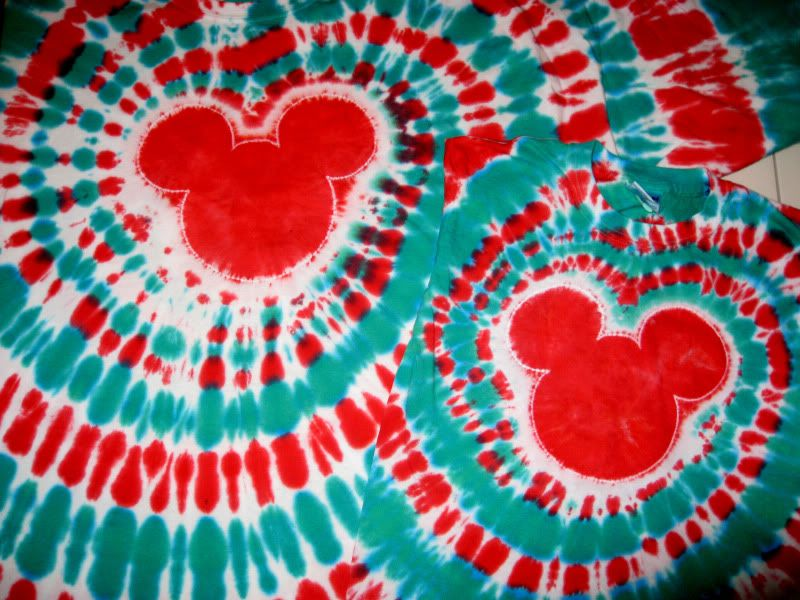 Tie Dye Instructions For Spiral Mickey Shirt Page 160 The Dis