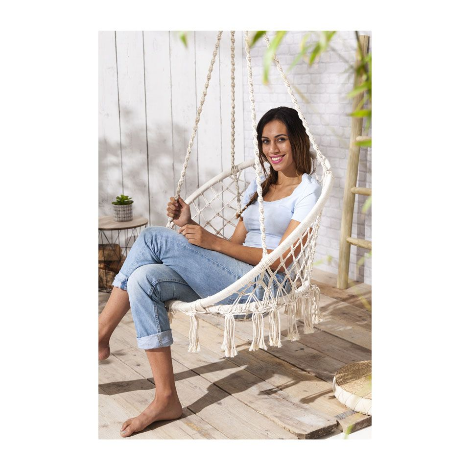 Hangstoel knoet xenos tuin porch swing hanging for Hang stoel