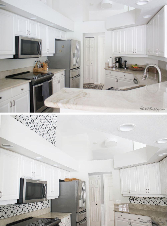 19 Stenciled Kitchen Wall Backsplash Cheap Cheap Kitchen Cabinets Kitchen Wall