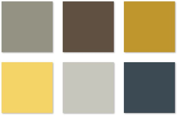 Color Brown Grey Yellow Scheme