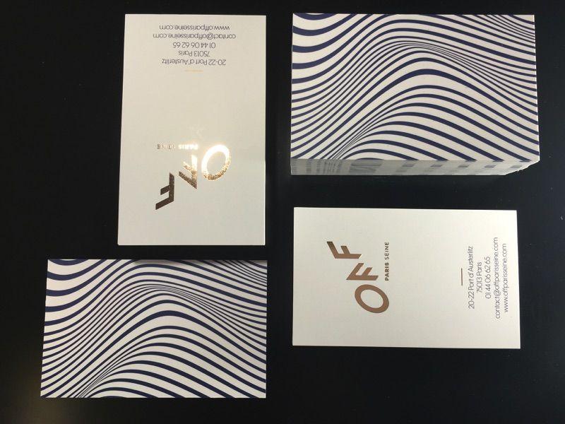 Cartes OFF Dorure Chaud Pantone Metal