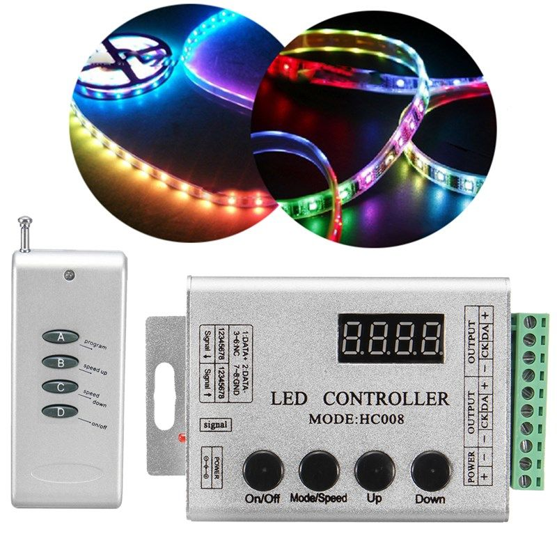 Dc12v Rgb Led Strip Pixel Bar Hc008 Rf Controller For Ws2812 Ws2811 Ws2801 Lpd6803 Led Strip Rgb Led Led
