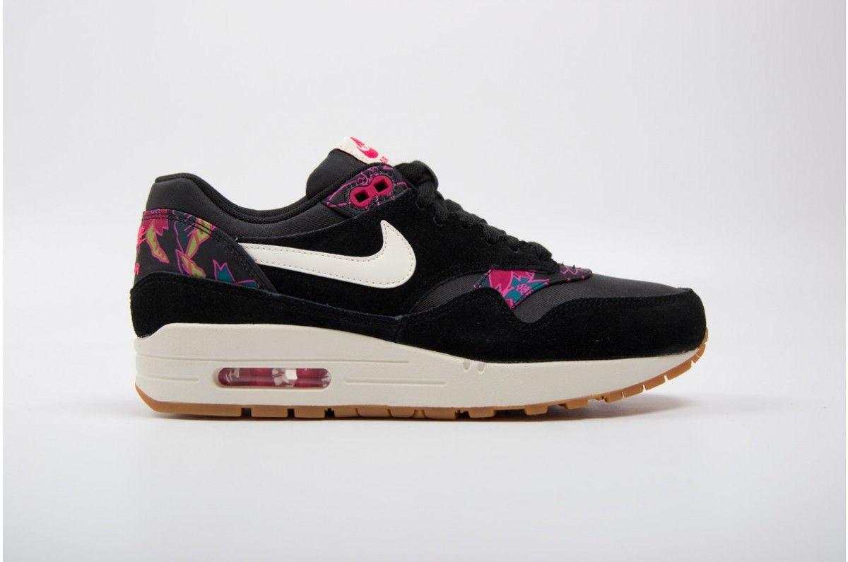 Nike Wmns Air Max 1 Print Black Pink 528898 004 Air Max Air Max 1 Nike