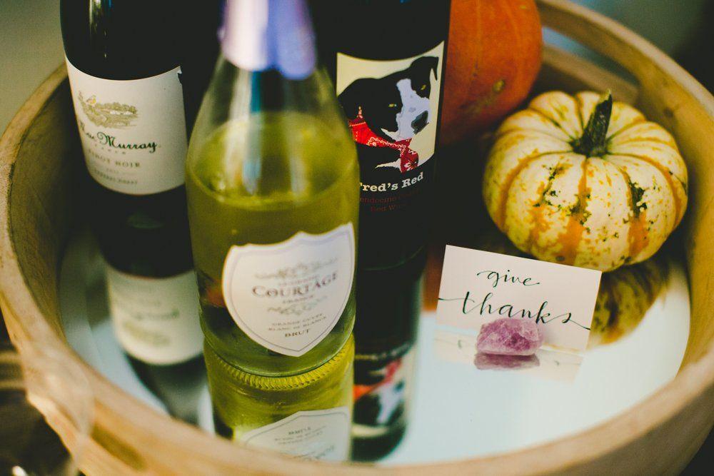 Thanksgiving Wine Tray