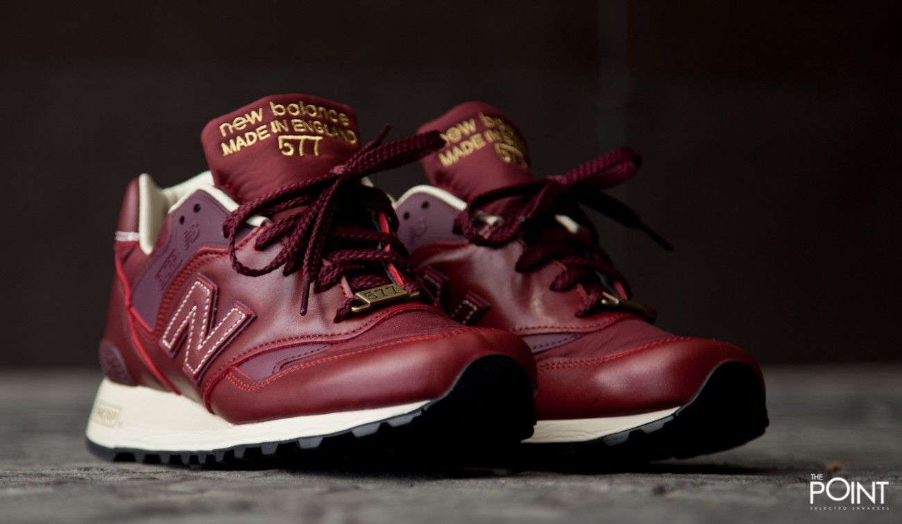 new balance 577 made in england – red leather