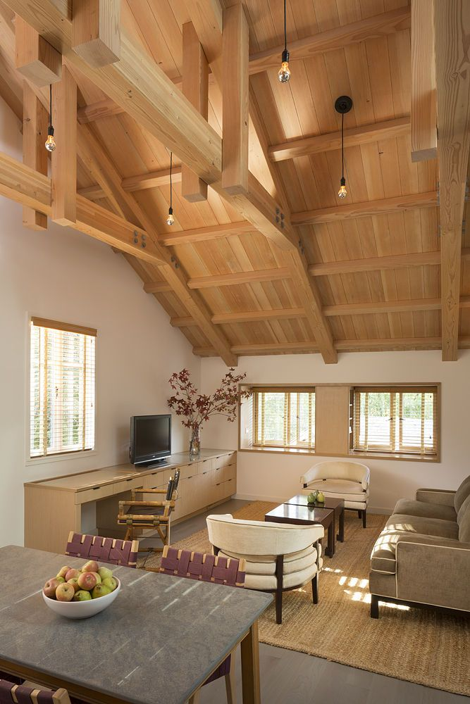 Room In Attic Truss Design: Historic Trusses Exposed By Renovation. Interior Wrapped