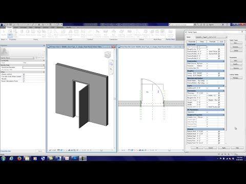 Making Detailed Revit Door Families 110 Minutter Youtube Panel Doors Hollow Metal Doors Panel Curtains