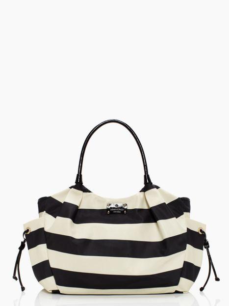 cambridge stripe stevie baby bag
