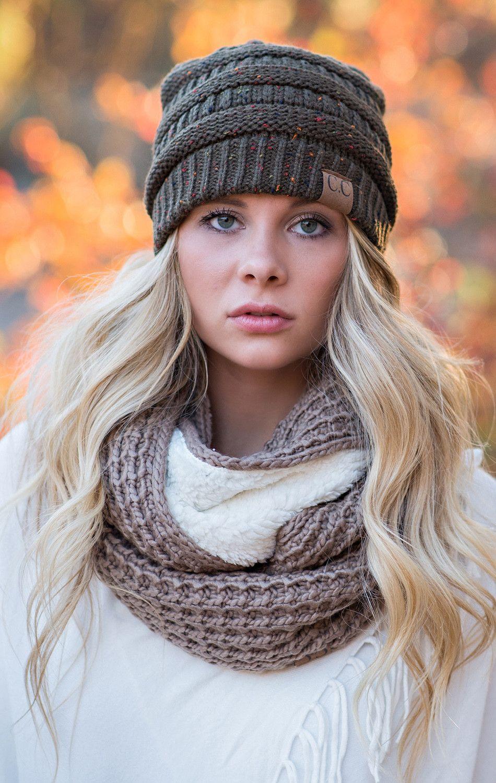 fe5503fc7d1 CC Confetti Knit Beanie - Gray