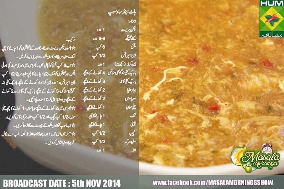 Hot And Sour Soup Recipe Urdu English Shireen Anwar Masala Tv