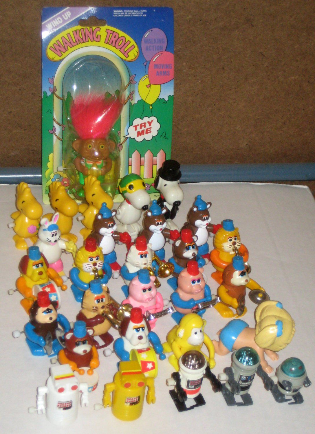Band Game Toy : Walking wind up toy lot tomy animal marching band snoopy