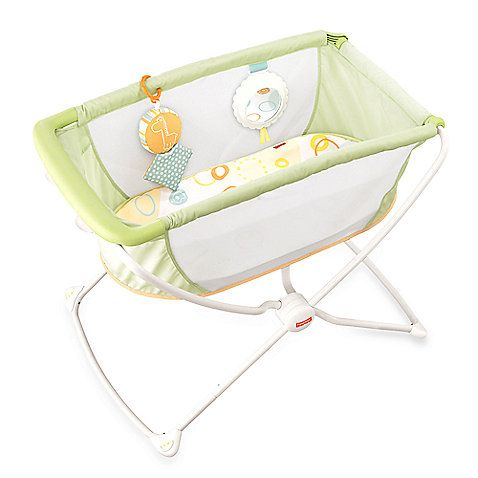 With a lightweight frame, easy fold and flat, elevated sleeping surface, the Fisher-Price Rock 'n Play Portable Bassinet is designed as a portable sleeping environment that is right for baby.