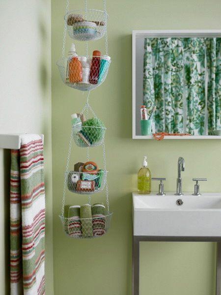17 Storage Hacks For Tiny Bathrooms Small Bathroom Storage