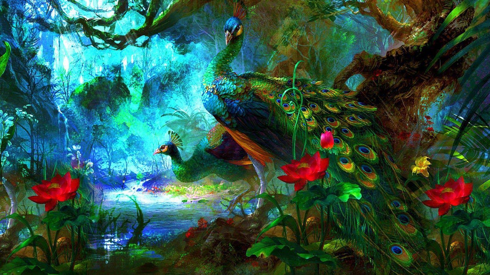 Peacock Walls Hd 3d 4d Imgs Jpg 1600 900 Peacock Wallpaper Peacock Painting Peacock Images