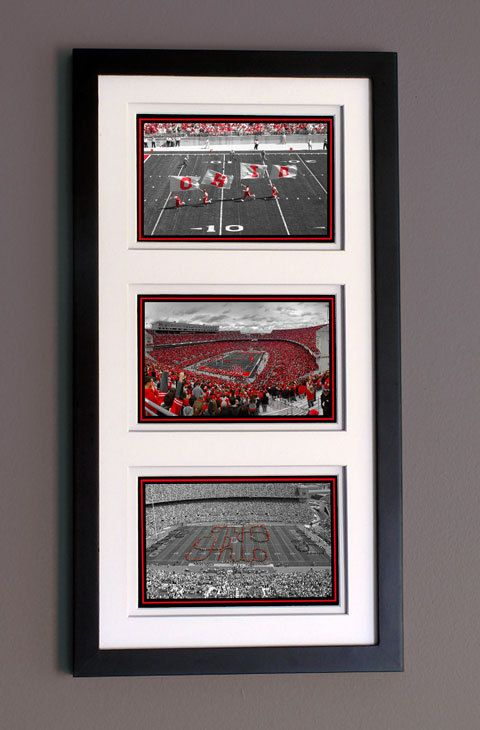 A Scarlet and Gray Saturday - Ohio State Buckeyes Ohio Stadium Columbus Ohio Framed Piece by Kenneth Krolikowski - Free Shipping