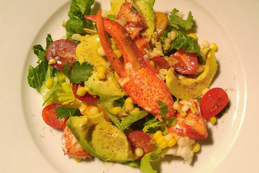 Salade d'été, homard, avocat et coriandre | Recette ...