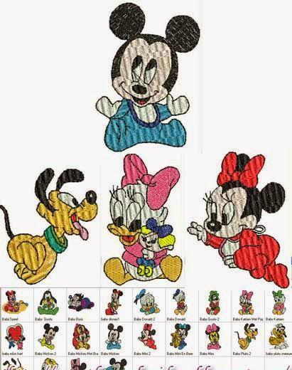 Alfabeto MINNIE MOUSE Disney PES  Embroidery Designs files
