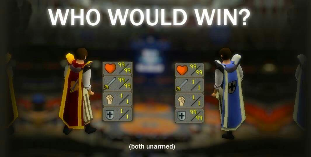 Haha, who would win? RS gold cheap with 6% off code