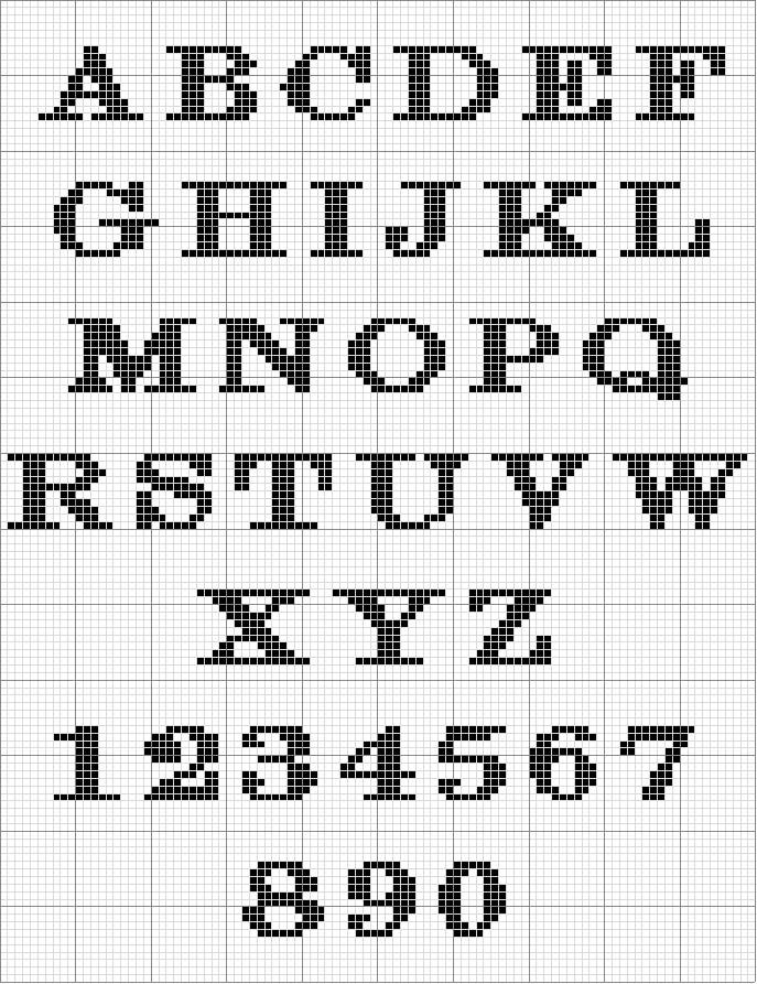 Knitting Letters Chart : Angels crochet charts graphs patterns and