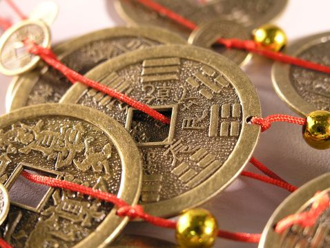 Close Up View Of Chinese Coins Money Chinese Coin Pinterest