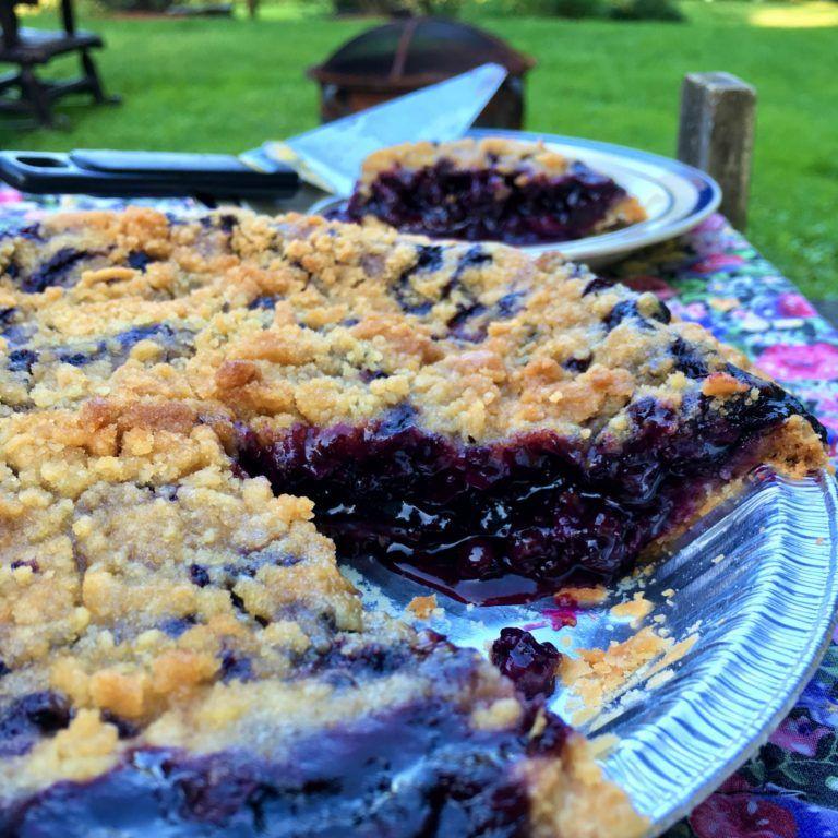 how to freeze fresh blueberry pie