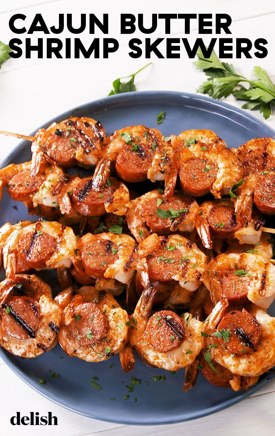 Cajun Butter Shrimp Sausage Skewers Recipe Appetizer Recipes