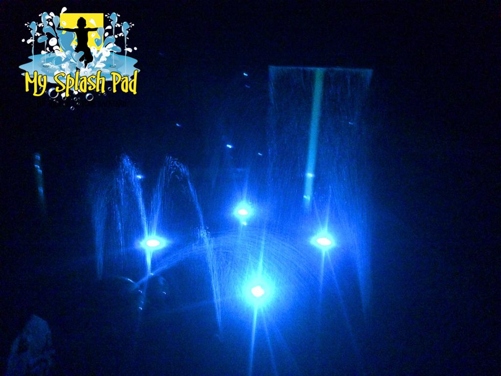 led color changing surface lighting for your backyard splash pad