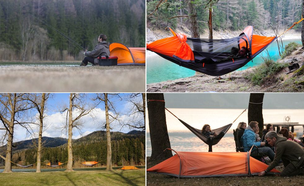 the startraveller equipment gmbh which is located in carinthia austria has recently introduced world u0027s first floating tent bivy tent hammock and rain p flying tent   world u0027s first all in one floating gadget for camping      rh   pinterest