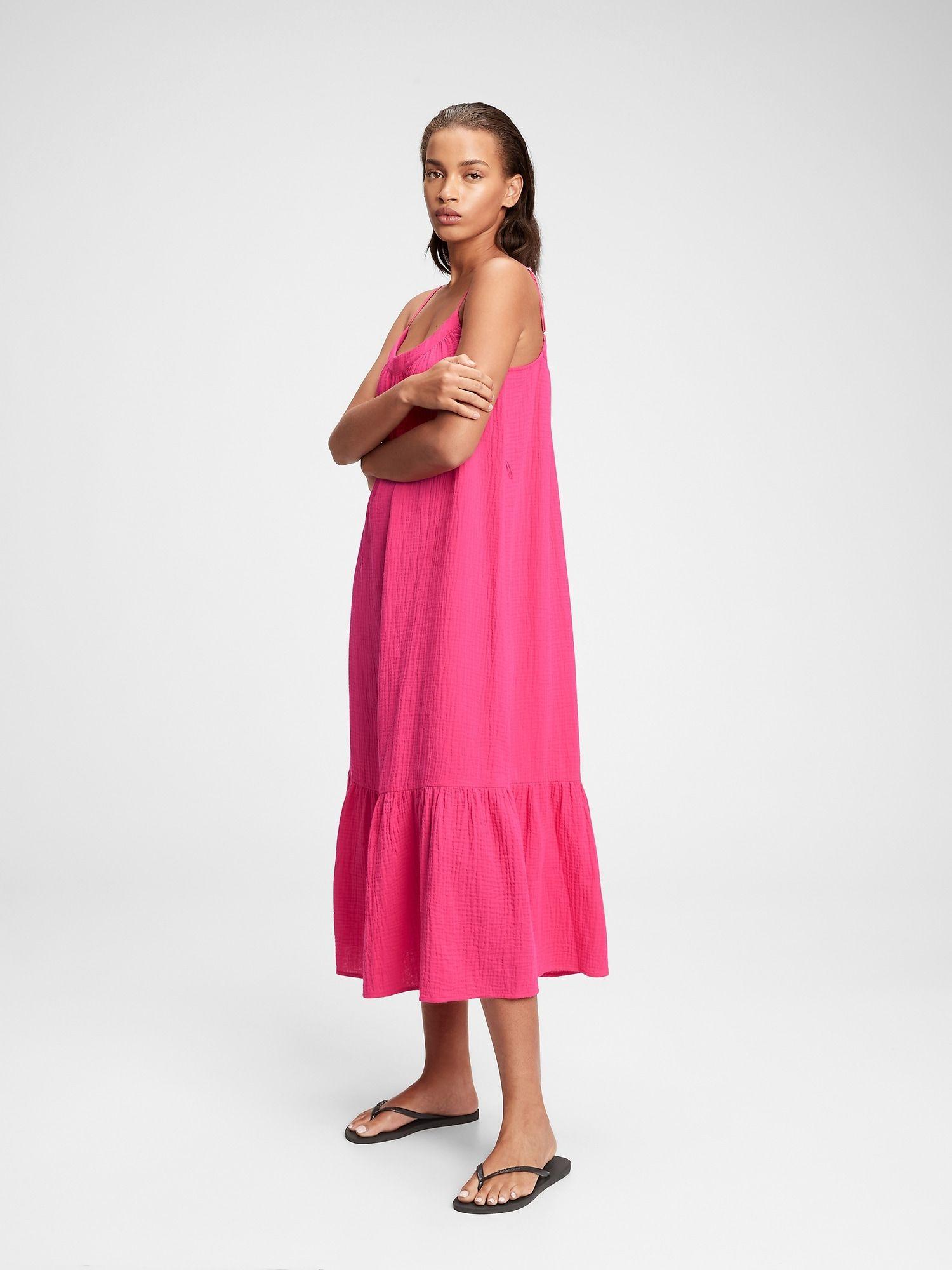 Gauze Cami Midi Dress In 2021 Cami Midi Dress Yellow Midi Dress Cotton Gauze Dress [ 2000 x 1500 Pixel ]